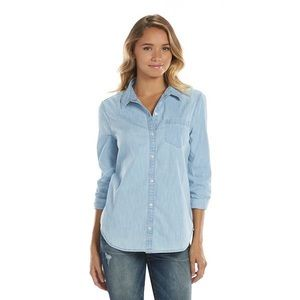 Nwt relaxed soft chambray button down shirt